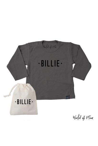 T -shirt longsleeve The Billie - met naam