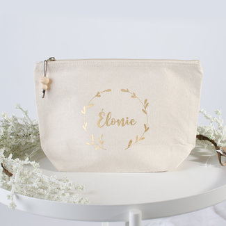 "World of Mina Toilet bag medium / ""wreath"" with name"