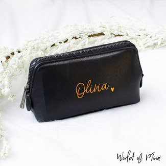 World of Mina Make-up bag black / with name