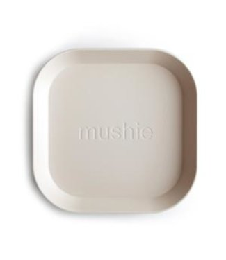 Mushie Square Dinner plates / Set van 2 (Ivory)