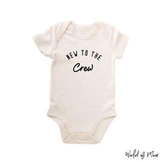"World of Mina Organic Romper / ""New to the crew"""