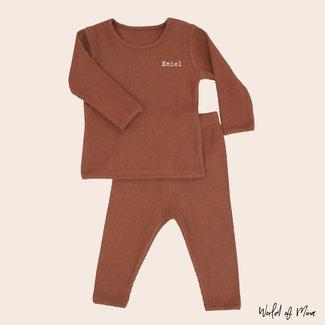 Rib outfit // Caramel