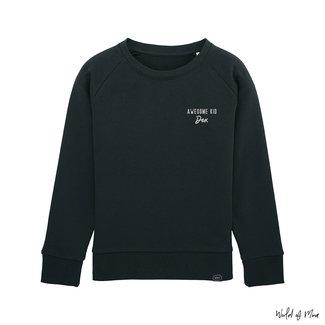 "World of Mina Sweater kids // ""Awesome kid"" - met naam"