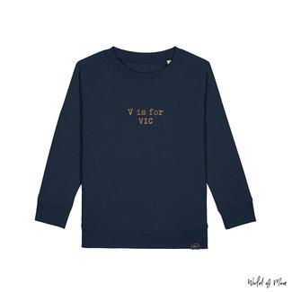 """World of Mina Sweater kids // """"ABC"""" - met naam"""