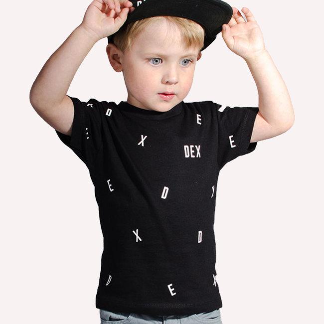 """World of Mina Kids t-shirt //  """"dancing letters"""" met naam"""
