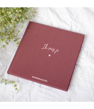Bonjour to you Herinneringsboek // Ik mis je