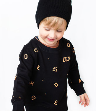 "World of Mina Sweater kids // ""Eating letters"" - met naam"