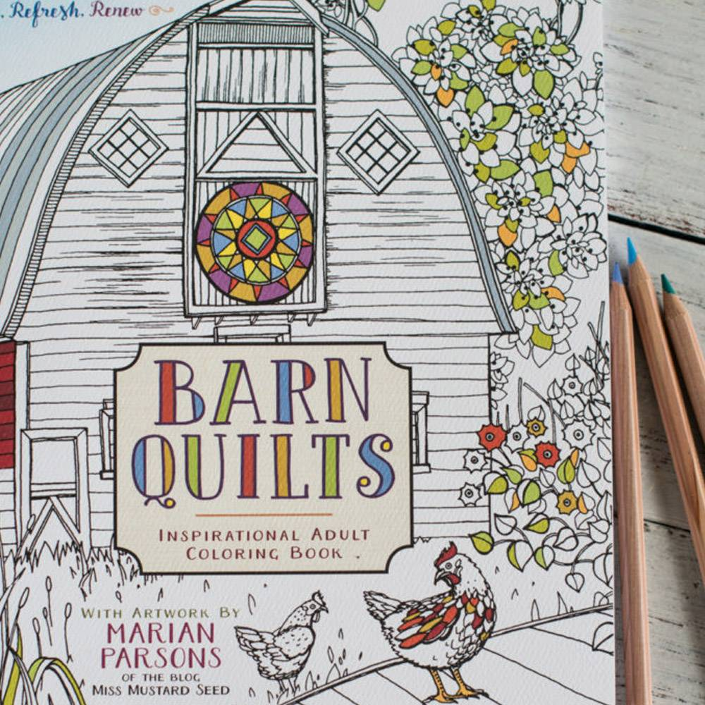 Miss Mustard Seeds Milk Paint MMSMP - Barn Quilts - Coloring Book