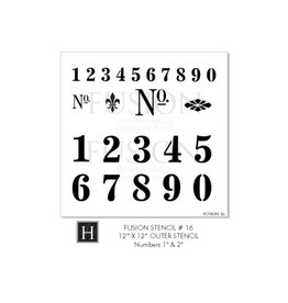 Fusion Mineral Paint Fusion - Stencil 16 - Numbers