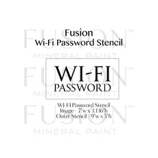 Fusion Mineral Paint Fusion - Stencil 27 - Wifi Pasword