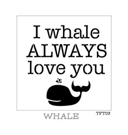 Fusion Mineral Paint Tones for Tots - Stencil - Whale