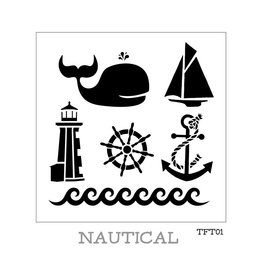 Fusion Mineral Paint Tones for Tots - Stencil - Nautical