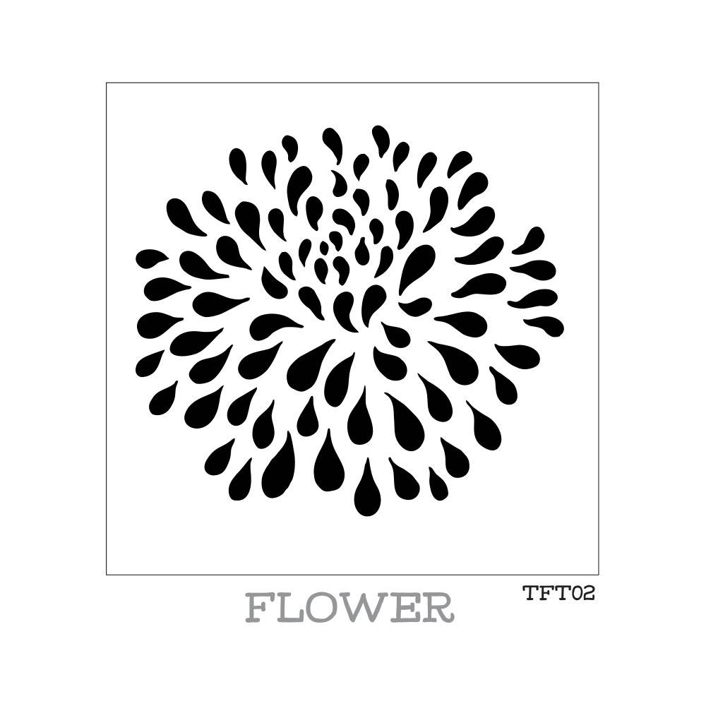 Fusion Mineral Paint Tones for Tots - Stencil - Flower