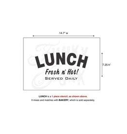 Funky Junk Funky Junk Stencils - Lunch