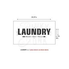 Funky Junk Funky Junk Stencils - Laundry