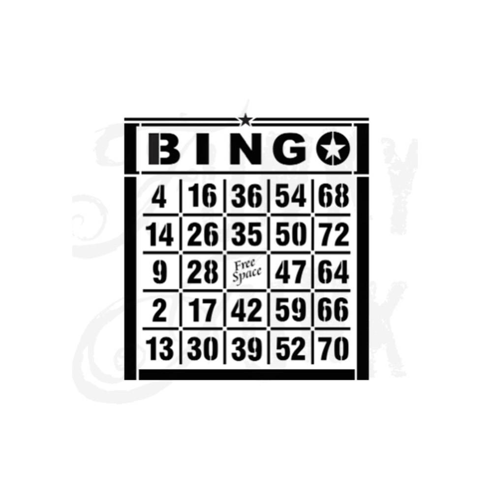 Funky Junk Funky Junk Stencils - Bingo Card