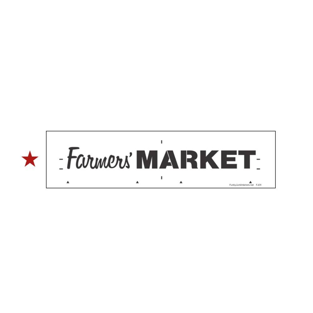 Funky Junk Funky Junk Stencils - Farmers Market