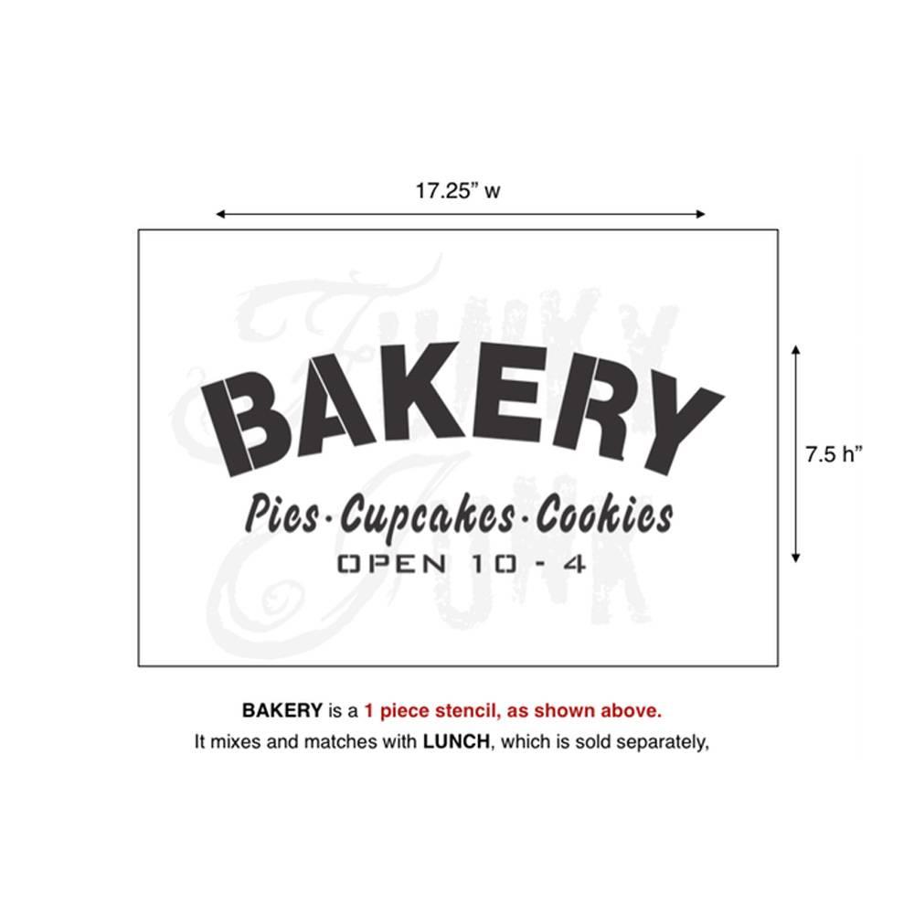 Funky Junk Funky Junk Stencils - Bakery
