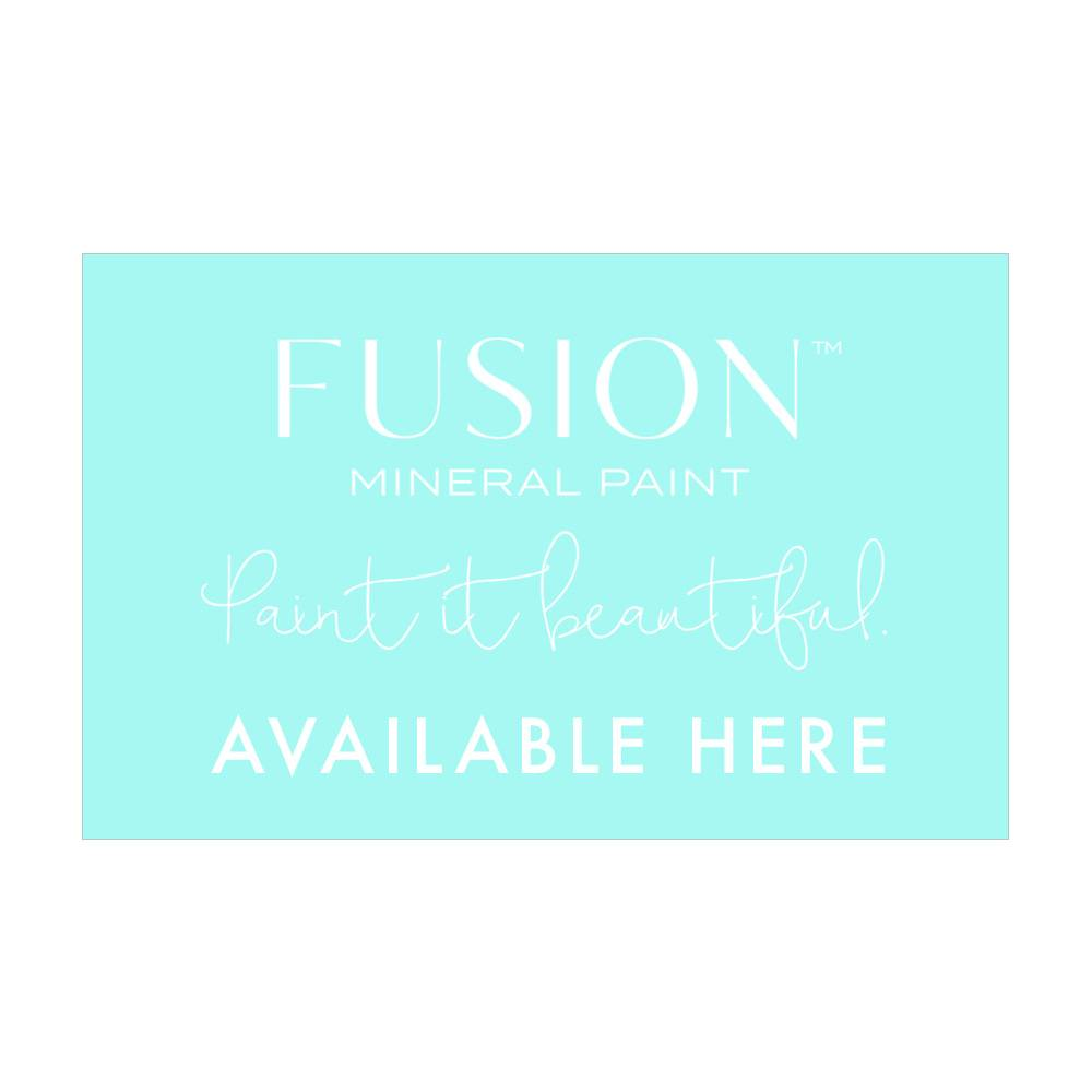 Fusion Mineral Paint Fusion - Available Here window decal