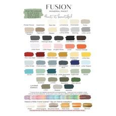 Fusion Mineral Paint Fusion - Color Cards - 50 pcs