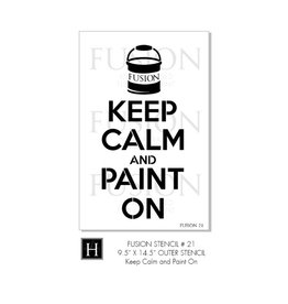 Fusion Mineral Paint Fusion - Stencil 21 - Keep Calm and Paint
