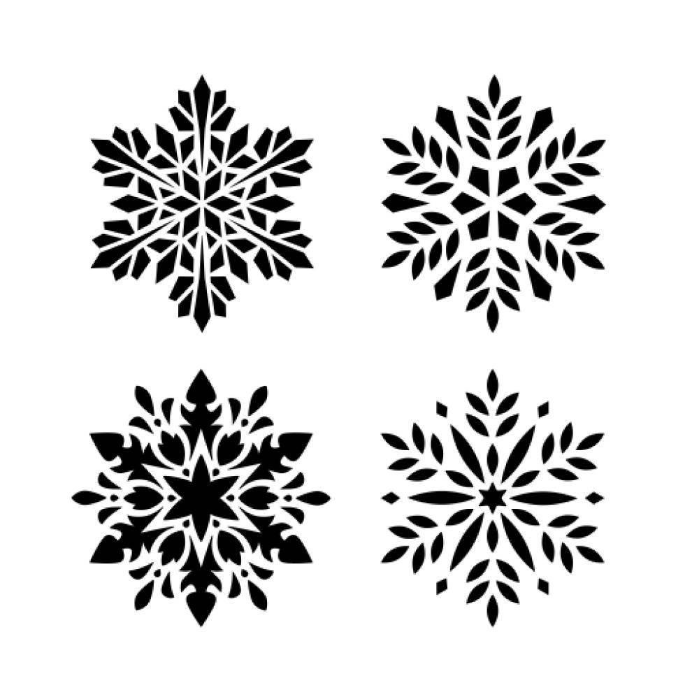 Muddaritaville MU - Snowflakes - 4 pcs