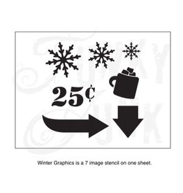 Funky Junk Funky Junk Stencils - Winter graphics