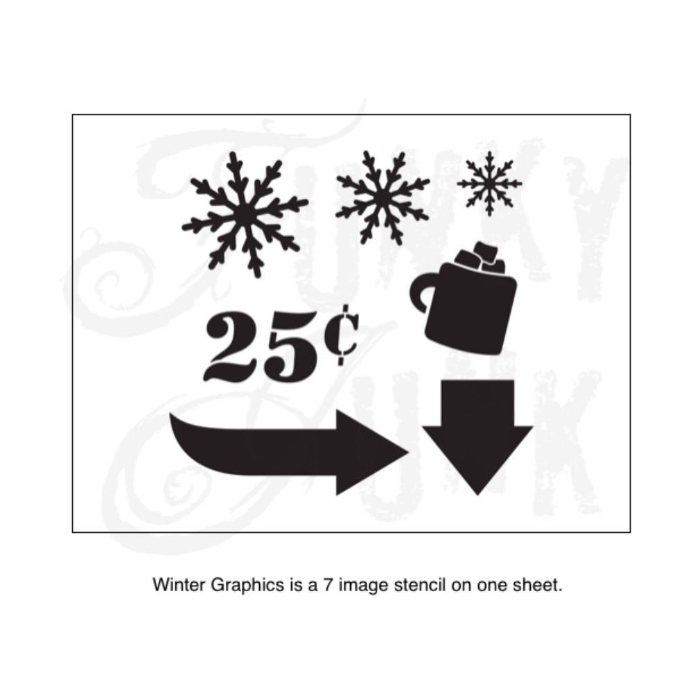 Funky Junk Funky Junk Stencils - Winter graphics