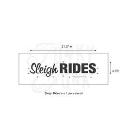 Funky Junk Funky junk stencils - Sleigh rides