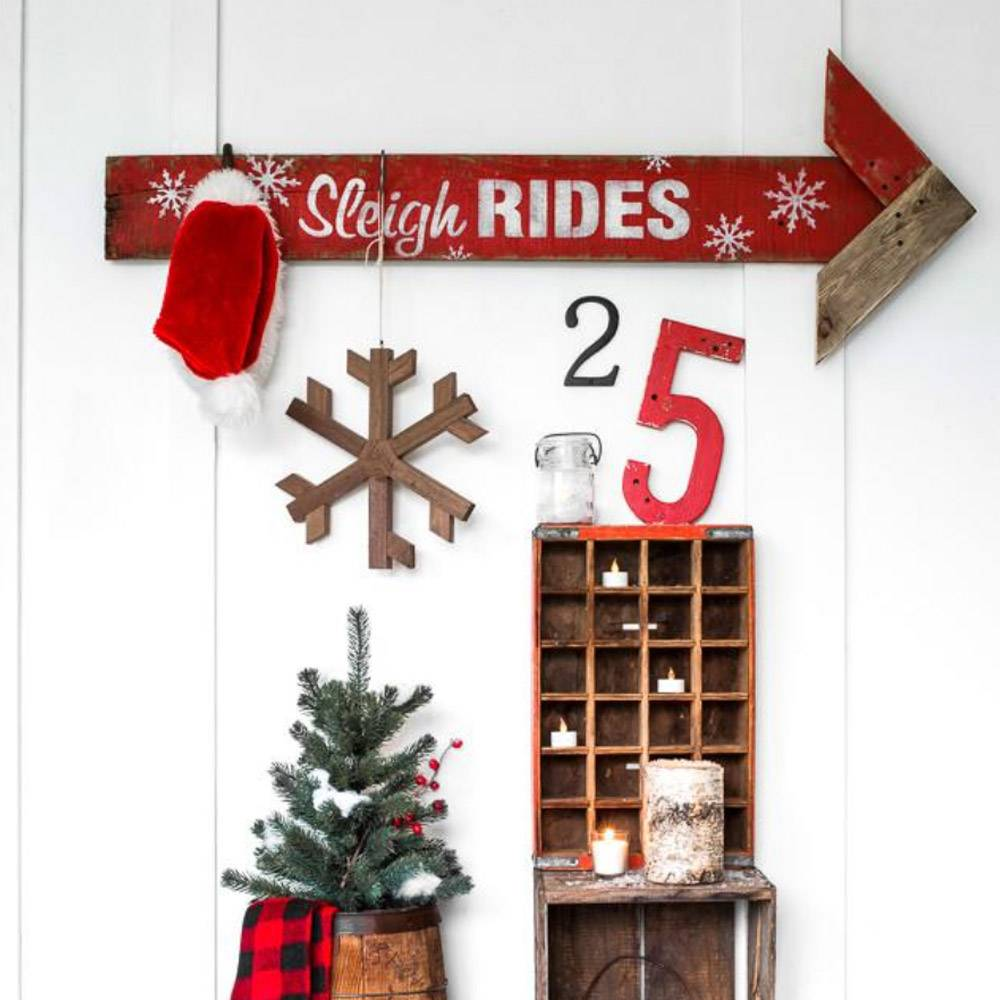 Funky Junk Funky junk stencils - Sleigh rides