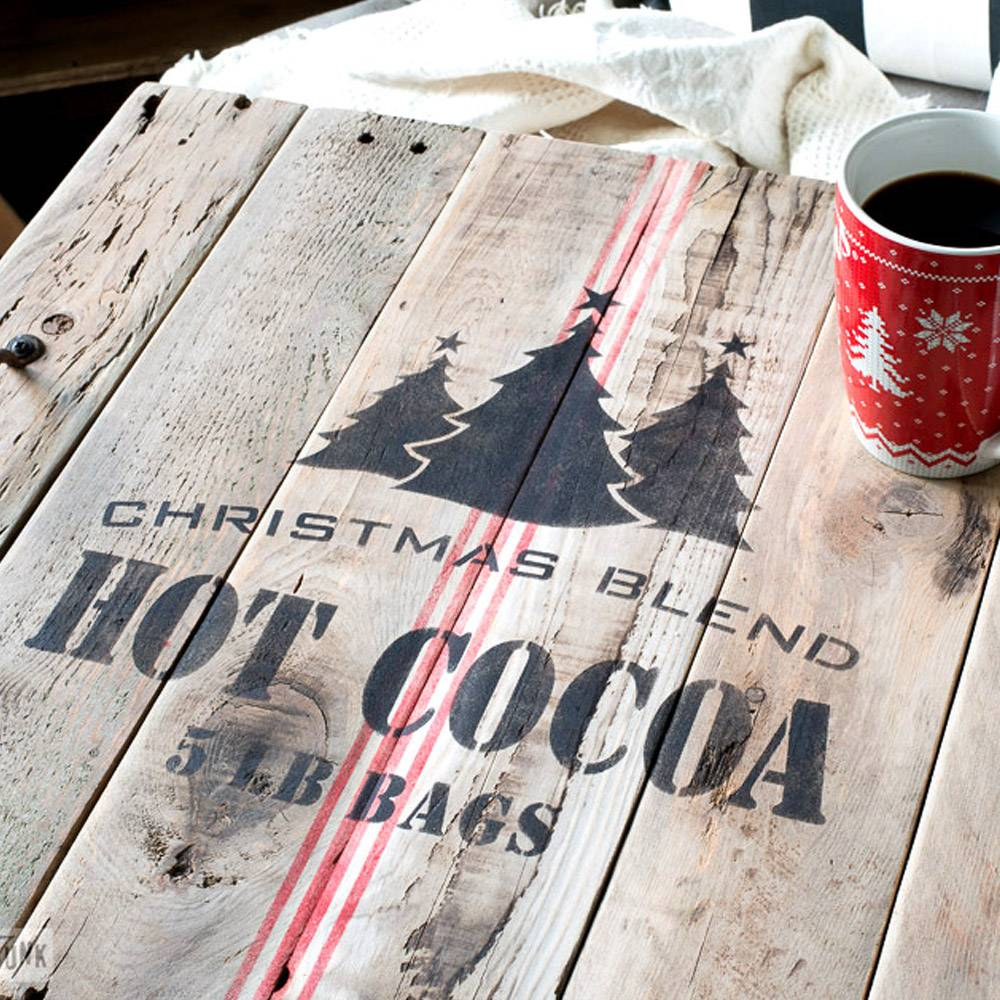 Funky Junk Funky Junk Stencils - Christmas Blend Hot Cocoa - 2 pcs