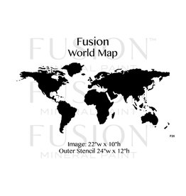 Fusion Mineral Paint Fusion - Stencil 28 - World Map