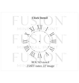 Fusion Mineral Paint Fusion - Stencil 29 - Clock - 24inch