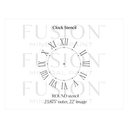 Fusion Mineral Paint Fusion - Stencil 29 - Clock - 24inch