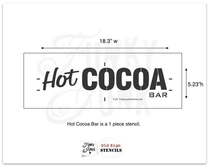 Funky Junk Funky Junk Stencils - Hot cocoa bar