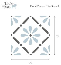 Dala Muses Dala Muses - Floral Pattern Tile