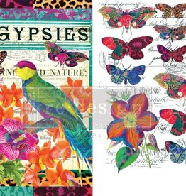 Redesign with Prima Redesign - Decor Transfer - Boho Bird Butterfly