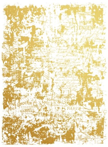 Redesign with Prima Redesign - Gold Transfer - Gilded Distressed Wall