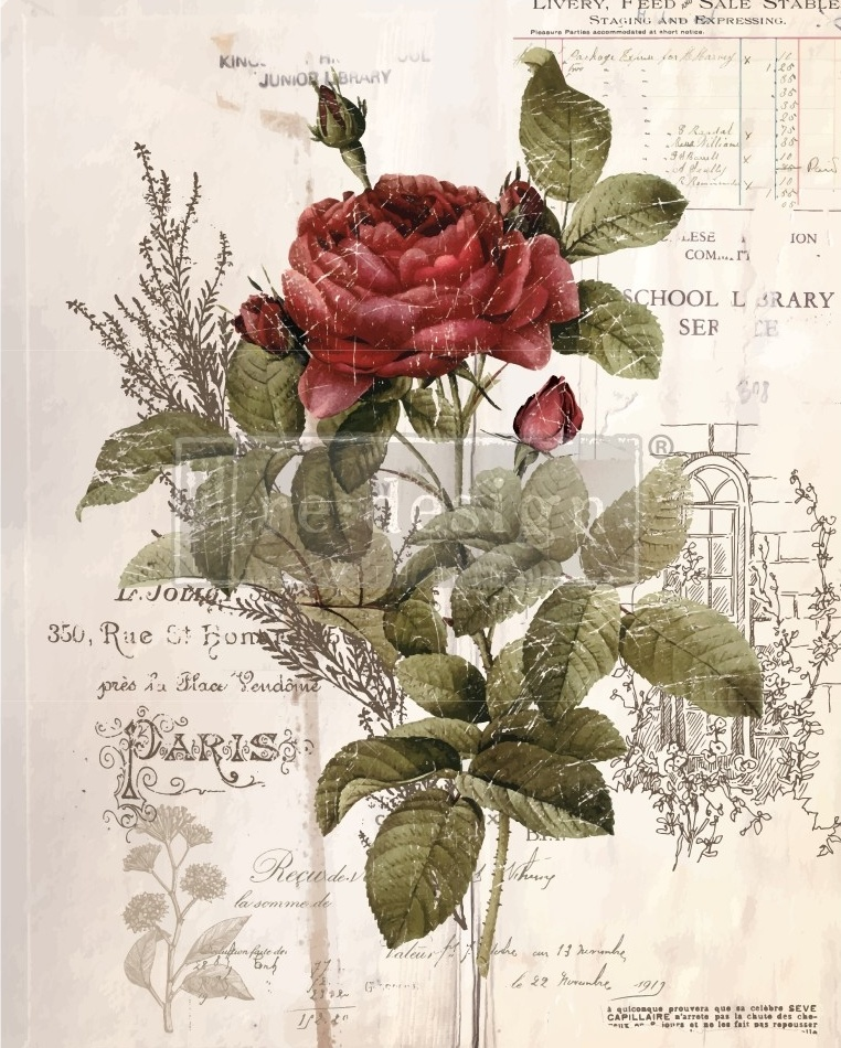 Redesign with Prima Redesign - Decor Transfer - Botanical Rose