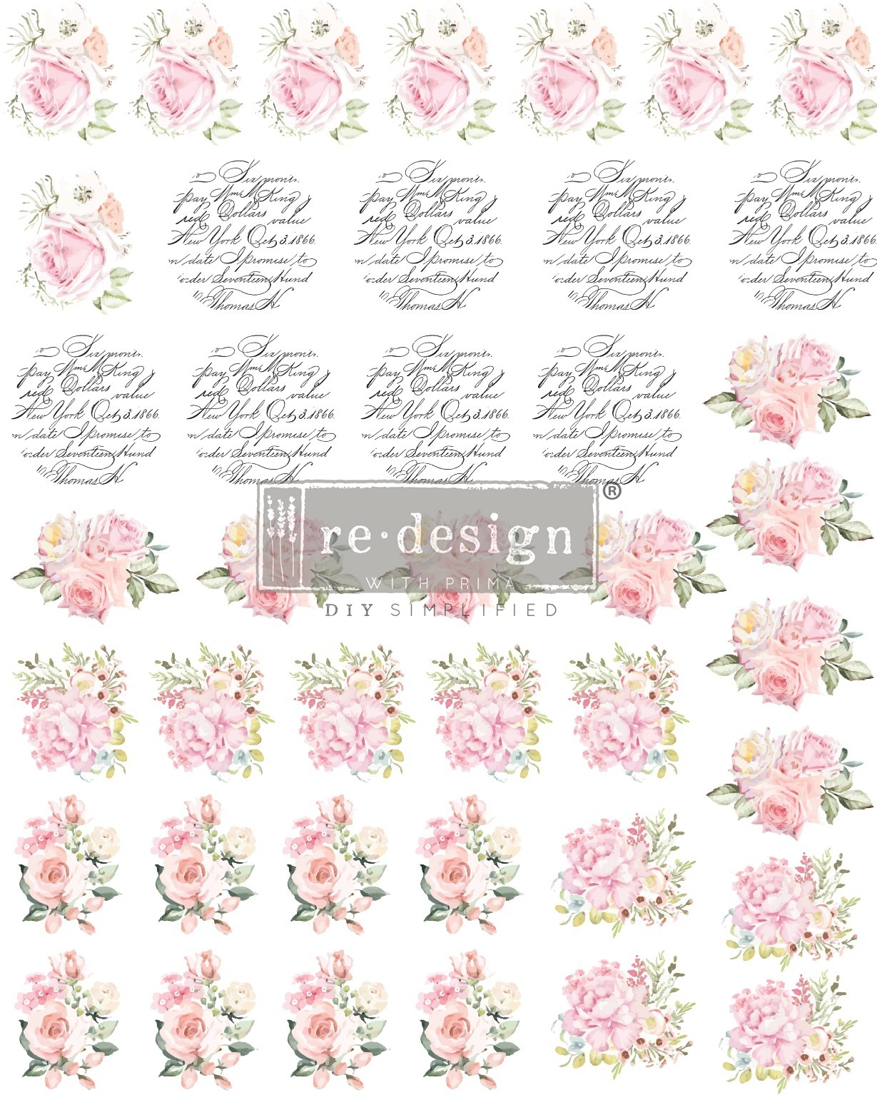 Redesign with Prima Redesign - Knob Transfer - May Flowers