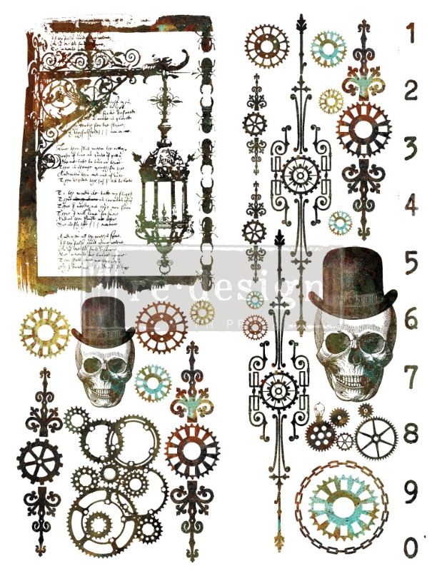 Redesign with Prima Redesign - Decor Transfer - Steampunk