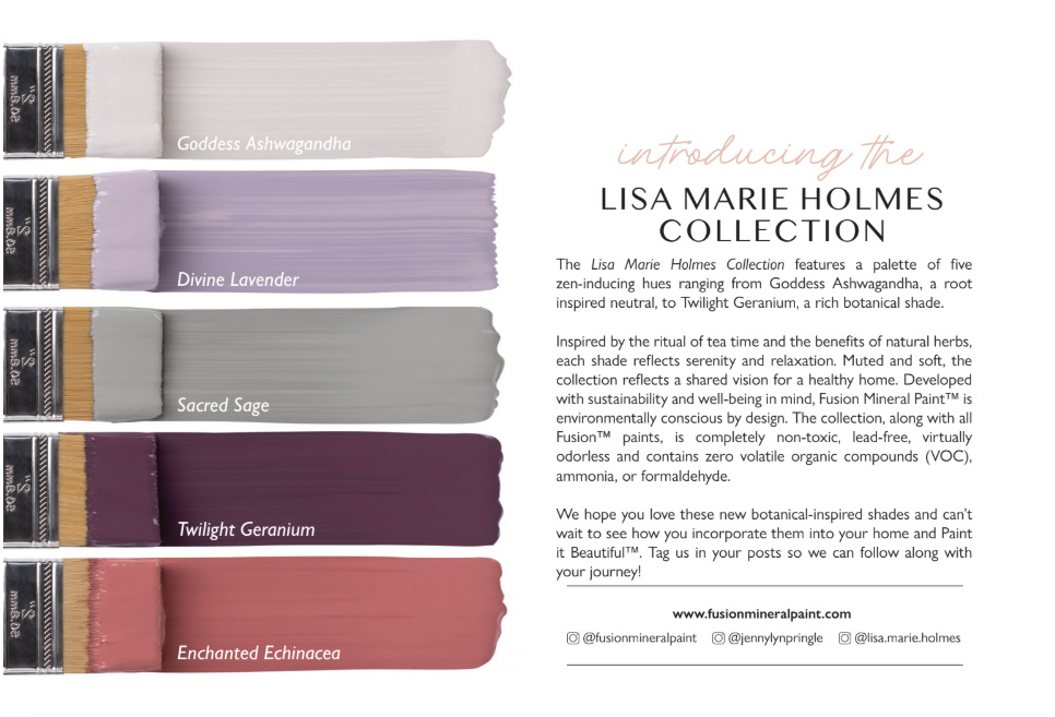 Fusion Mineral Paint Fusion - Promo card Lisa Marie Holmes Collection - 20pcs