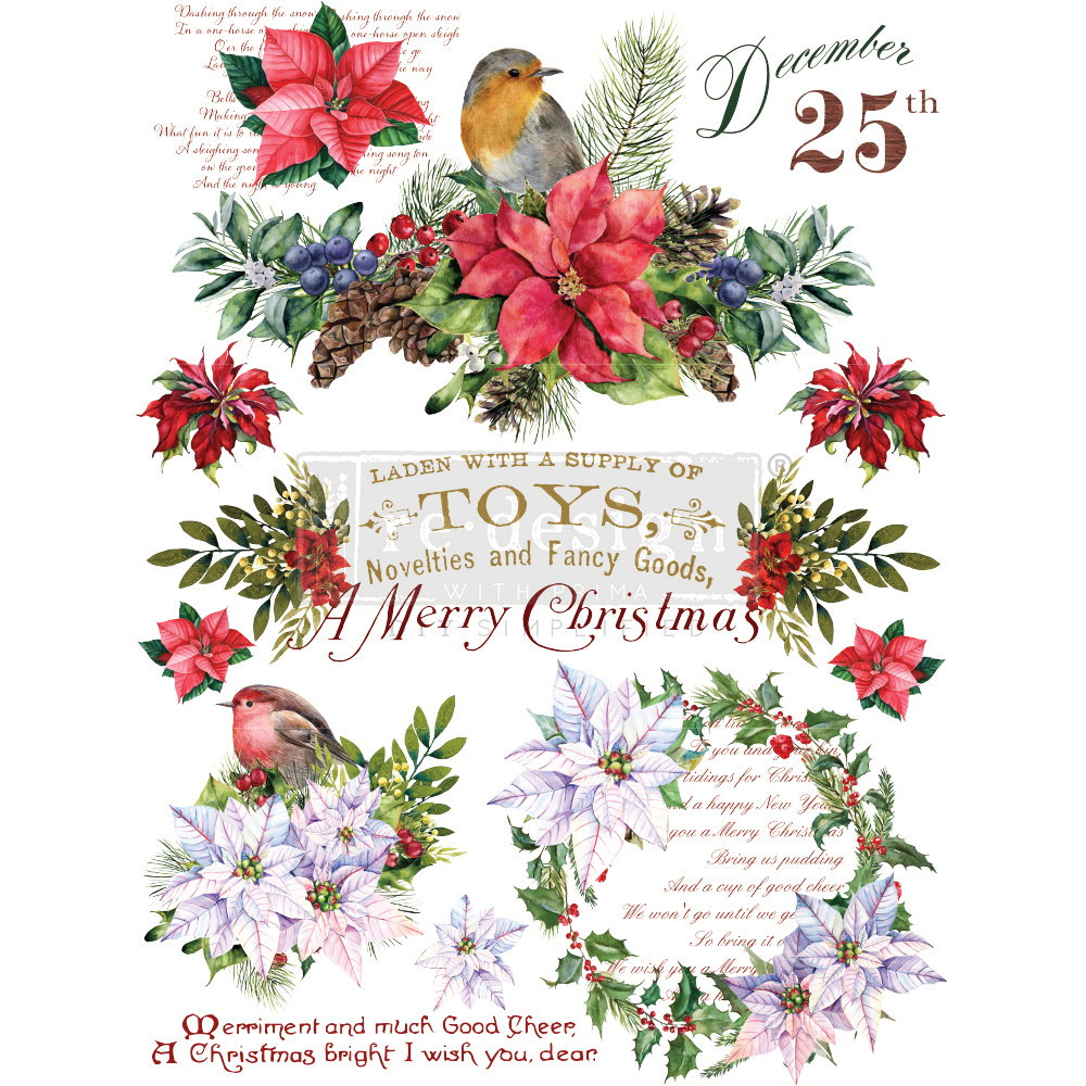 Redesign with Prima Redesign - Decor Transfer - Christmas Greetings
