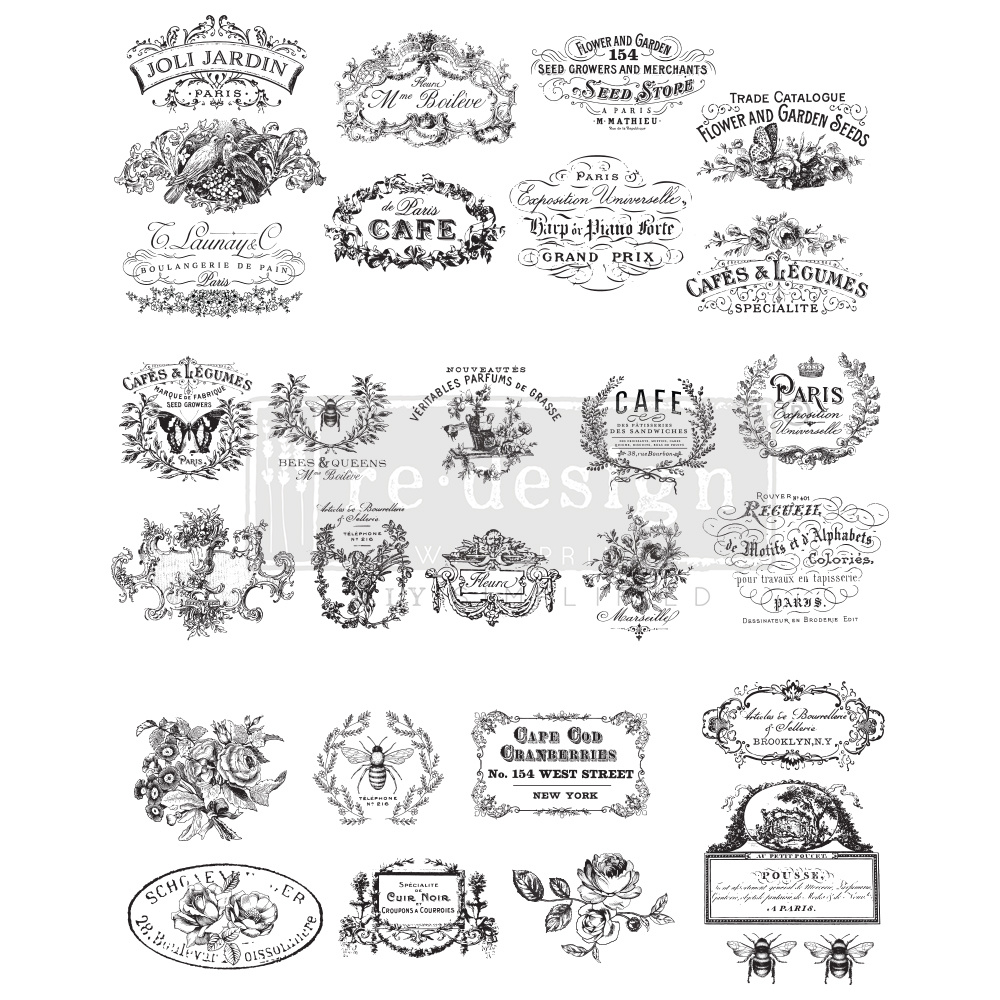 Redesign with Prima Redesign - Decor Transfer - Classic Vintage Labels