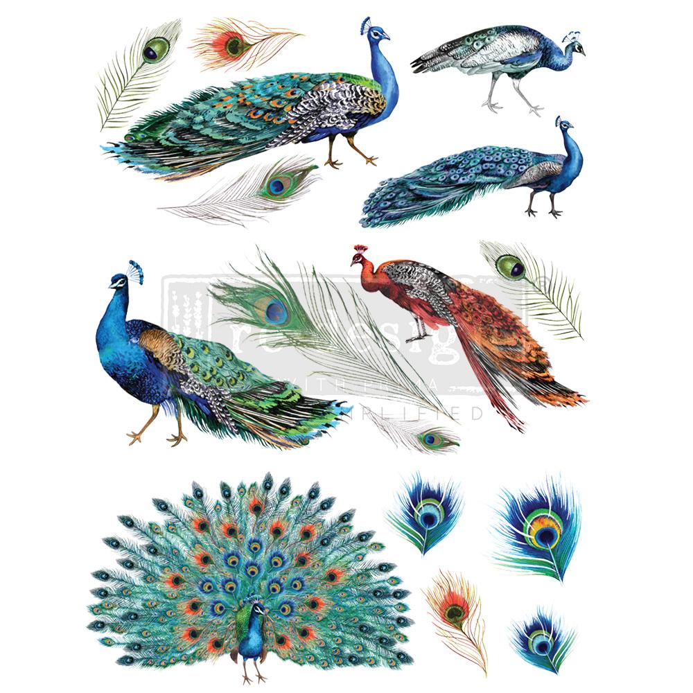 Redesign with Prima Redesign - Decor Transfer - Peacock Dreams