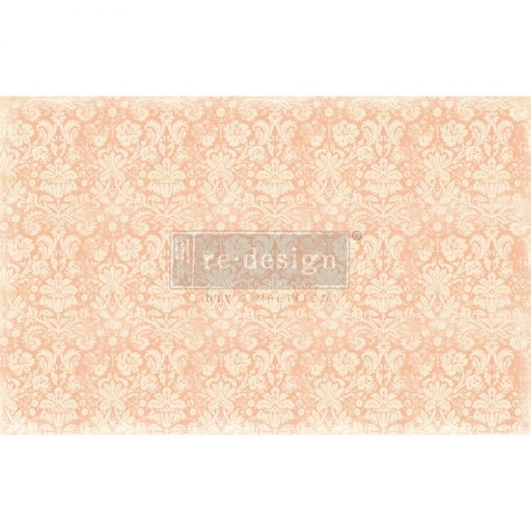 Redesign with Prima Redesign - Decoupage Tissue Paper - Peach Damask