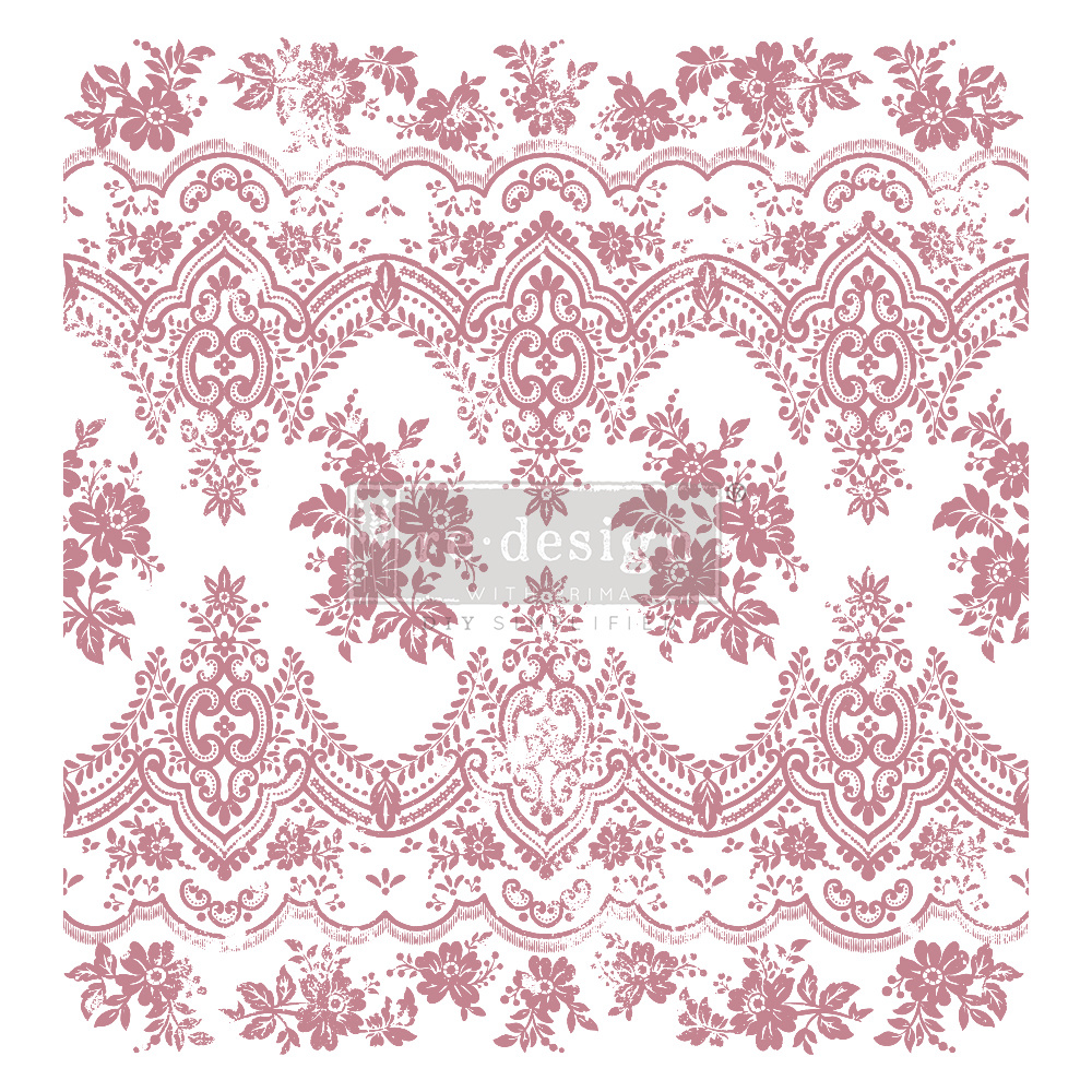 Redesign with Prima Redesign - Clear-Cling Stamps - Vintage Wallpaper