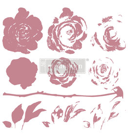 Redesign with Prima Redesign - Clear-Cling Stamps - Mystic Rose