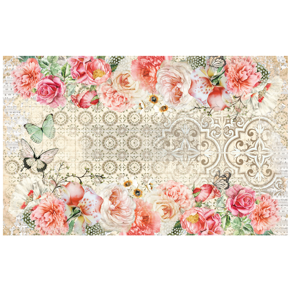 Redesign with Prima Redesign - Decoupage Tissue Paper - Living Coral