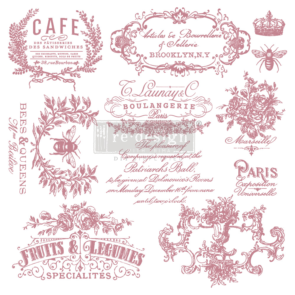 Redesign with Prima Redesign - Clear-Cling Stamps - I see Paris